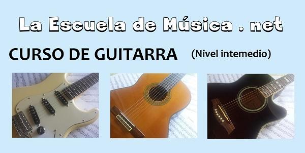 Curso de guitarra online gratis nivel intermedio