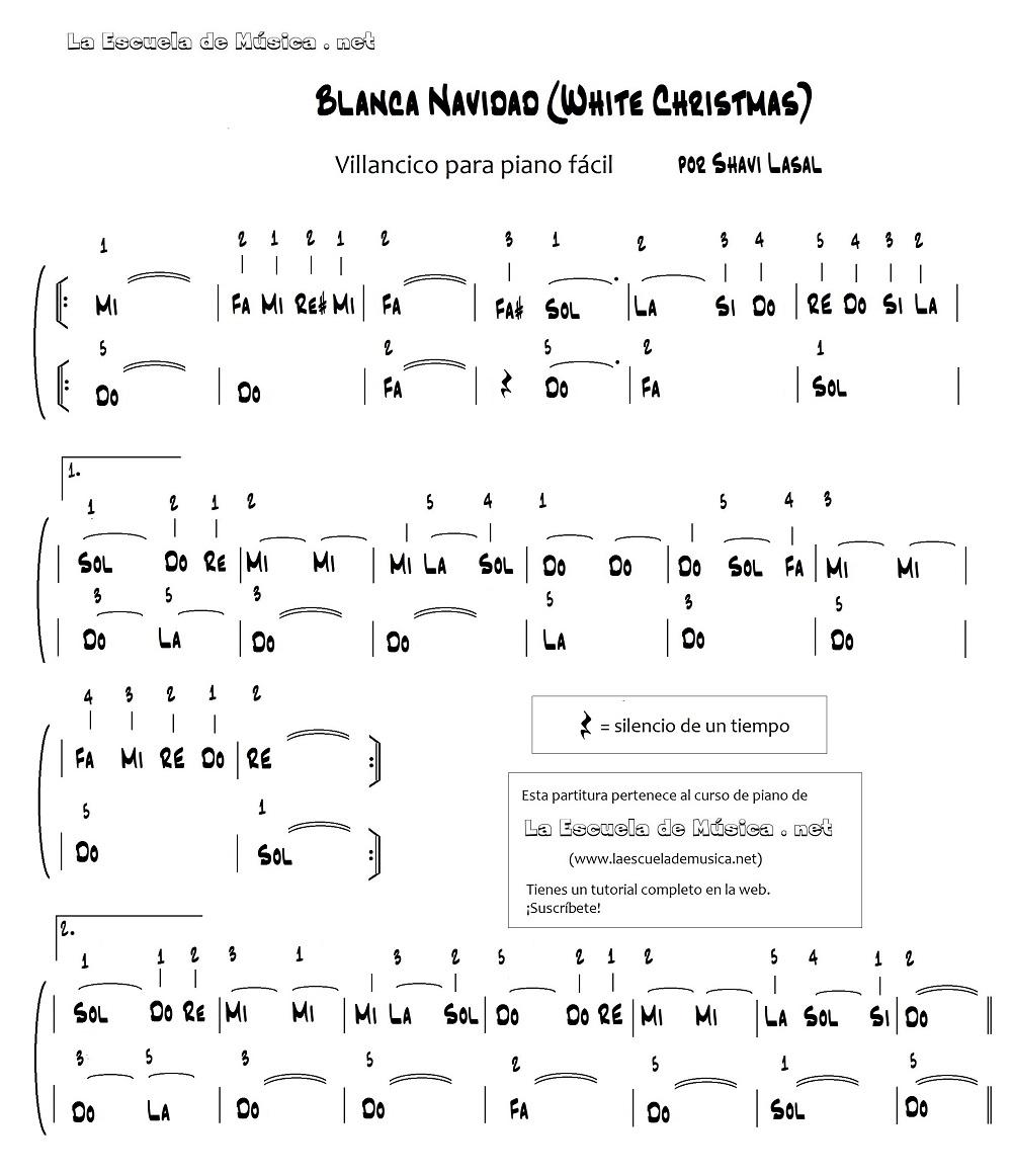 Como tocar canciones de navidad en piano
